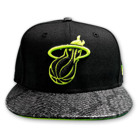New Era Miami HEAT Black Snake Fitted Hat
