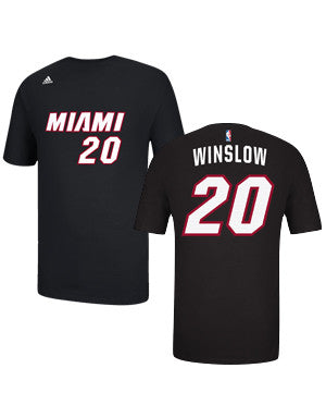 Justise Winslow Miami HEAT adidas Name and Number T-Shirt Black