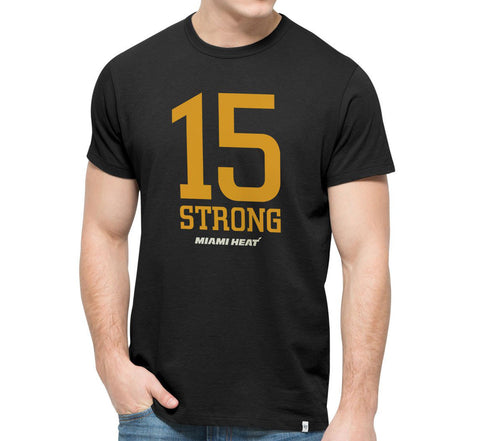 '47 Brand Miami HEAT 15 Strong Tee Black
