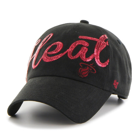 '47 Miami HEAT Ladies Sparkle Script Adjustable Cap
