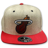 Mitchell and Ness Miami HEAT Flannel Fitted Cap