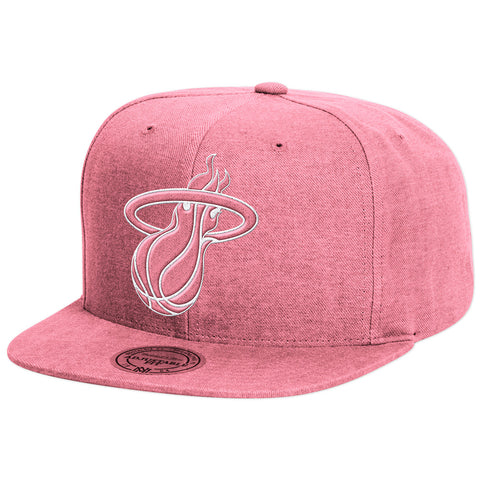 Mitchell and Ness Miami Heat Slub Snapback