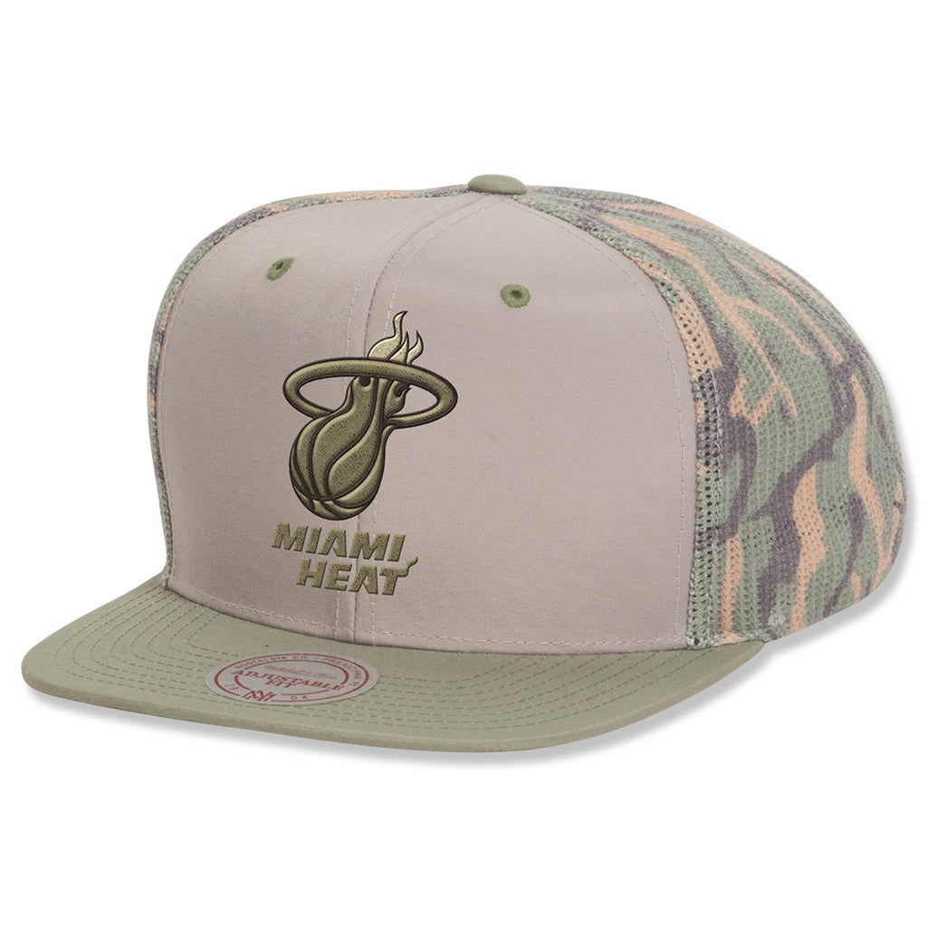 Mitchell and Ness Miami Heat Camo Trucker