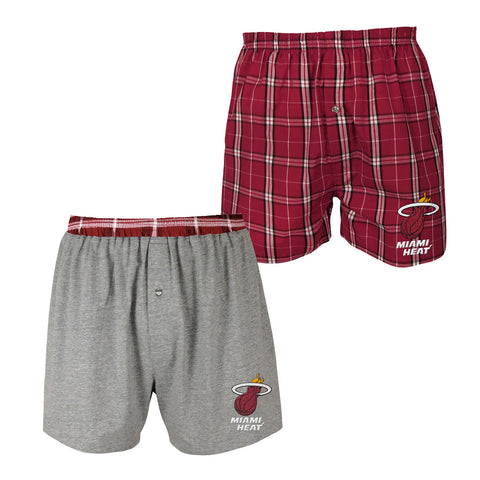Concepts Sports Miami HEAT 2 Pack Boxer Set