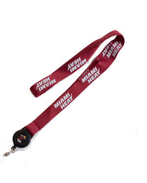 Miami HEAT Badge Reel Lanyard