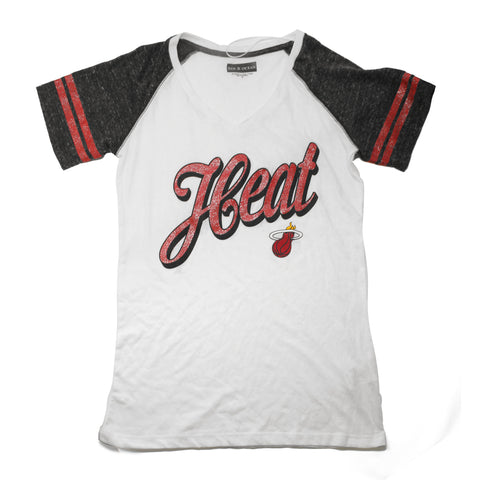 New ERA Ladies Short Sleeve HEAT Raglan V Neck