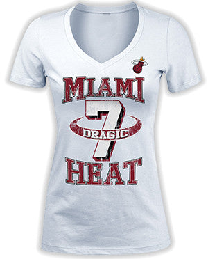 Goran Dragic Miami HEAT 5th and Ocean Ladies Rim T-Shirt White - featured image