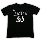 Justise Winslow Miami HEAT adidas Youth Black Tie Name and Number T-Shirt - 1