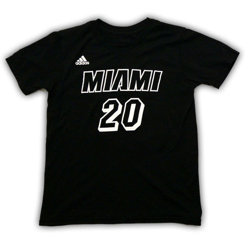 Justise Winslow Miami HEAT adidas Youth Black Tie Name and Number T-Shirt