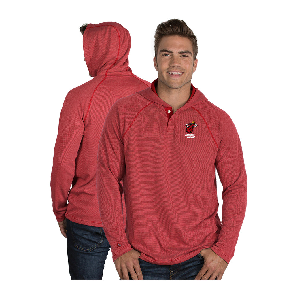 Antigua Miami HEAT Captain Long Sleeve Hoodie Tee - featured image