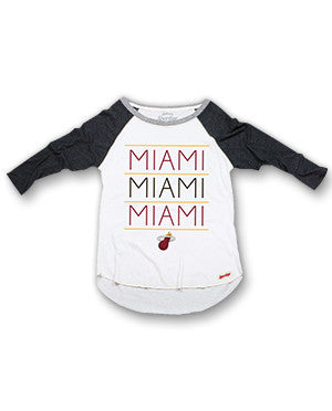 Sportiqe Miami HEAT Brandy Raglan T-Shirt - featured image