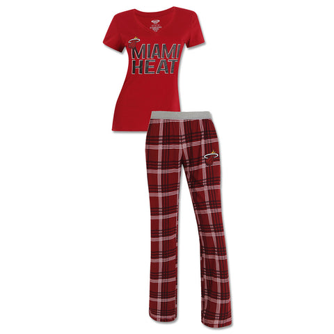 Concepts Sports Miami HEAT Ladies Tiebreaker Sleep Set