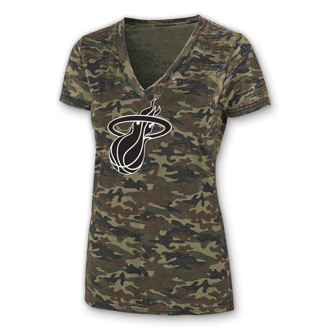 G-III Miami HEAT Camo V Neck T-Shirt