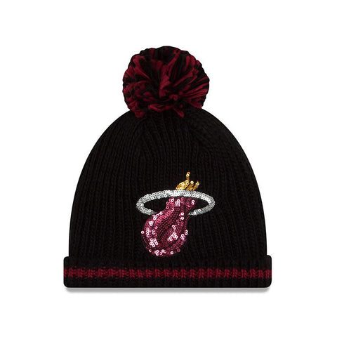 New ERA Miami HEAT Ladies Sequin Frost Knit