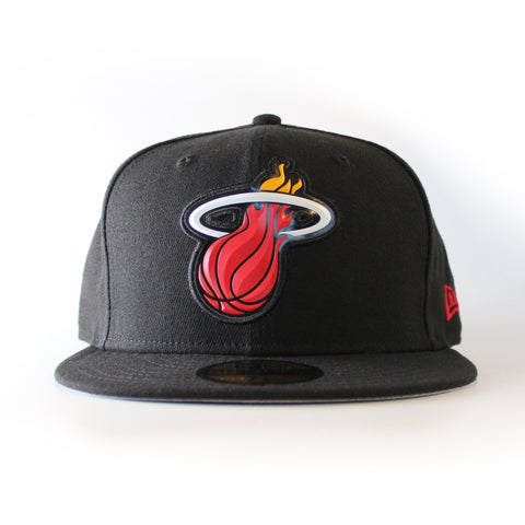 miami heat new era BEVEL TEAM FITTED