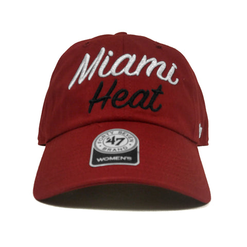 '47 Miami HEAT Ladies Glitter Script Cleanup Adjustable Cap