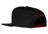 mitchell and ness miami heat word snap back - 2