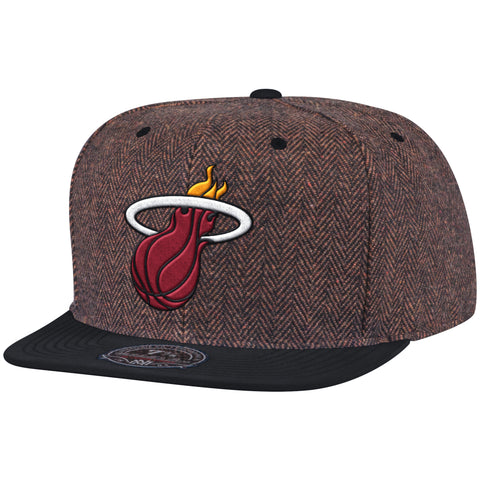 MITCHELL AND NESS MIAMI HEAT DONEGAL TWEED TWO TONE FITTED