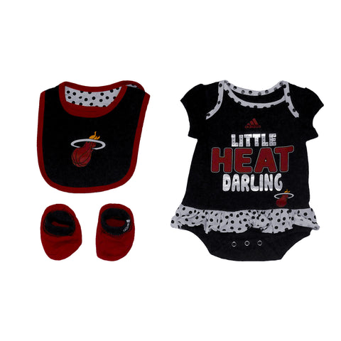 miami heat adidas LITTLE SWEET POLKA BIB & BOOTY