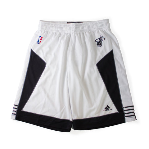 Miami HEAT adidas White Tie Youth Swingman Shorts