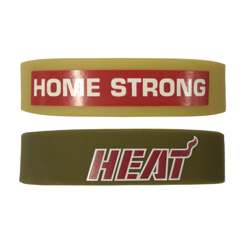Forever Collectibles Home Strong Miami HEAT Bulk Bandz 2 pack