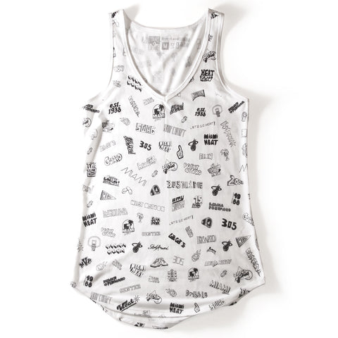 Court Culture White Hot HEAT Sublimated V-Neck Tank