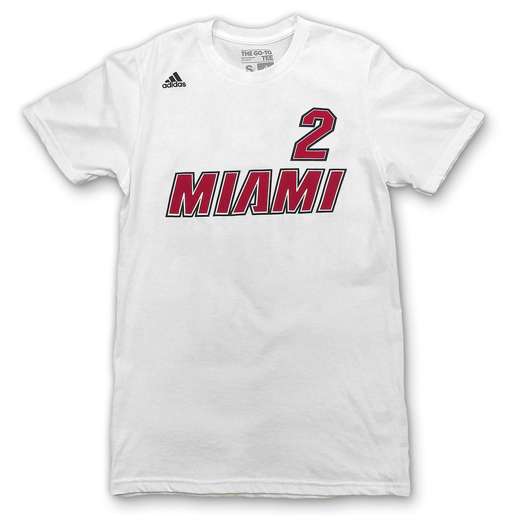 Joe Johnson Miami HEAT adidas Legacy Name and Number T-Shirt - featured image