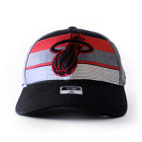 adidas Miami HEAT Stripe Structured Fitted Flex