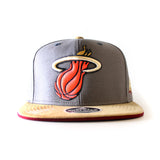 adidas Miami HEAT Earth Tones Flat Brim Snap Back - 1
