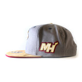 adidas Miami HEAT Earth Tones Flat Brim Snap Back - 3