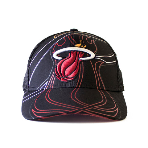 miami heat adidas STRUCT FLEX MESHBACK Fitted