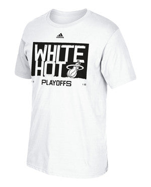 adidas Miami HEAT 2016 White Hot Playoff T-Shirt