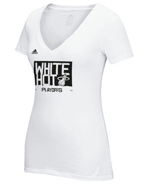 adidas Miami HEAT Ladies White Hot T-Shirt - featured image
