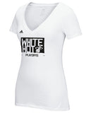 adidas Miami HEAT Ladies White Hot T-Shirt - 1