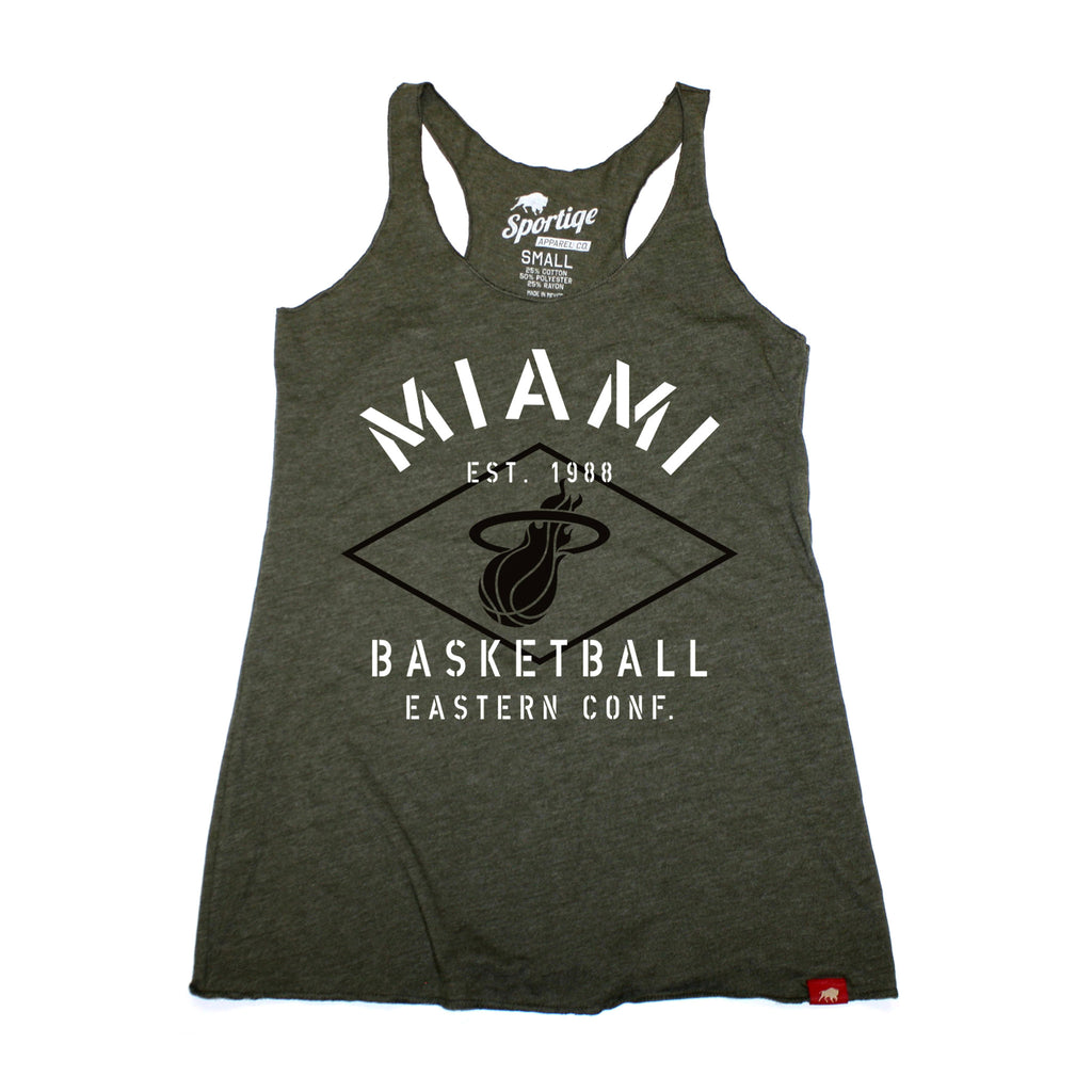 Sportiqe Miami Heat Ladies Comfy Military Tank - featured image