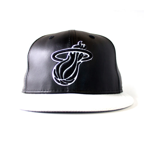 New ERA Miami HEAT Black & White  Fitted
