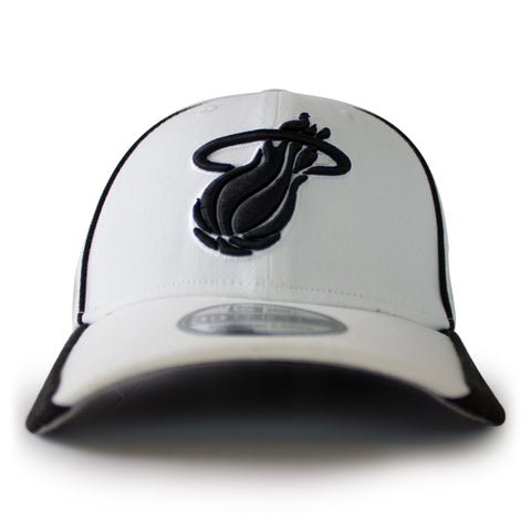 new ERA Miami HEAT White Tie Stretch Fit Cap