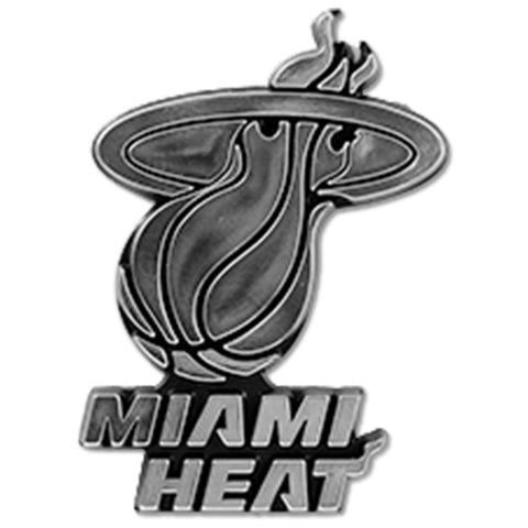 Miami HEAT Chrome Emblem Sticker