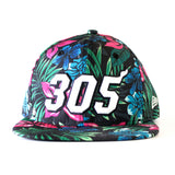 Court Culture Miami HEAT 305 Floral Snapback - 1