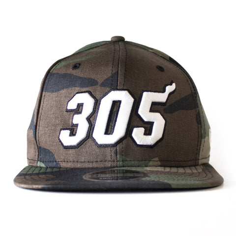 Court Culture Miami HEAT 305 Camo SnapBack