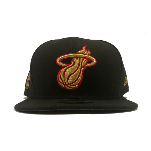 New ERA Miami HEAT Gold Flip Snapback