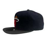 Mitchell & Ness M&N Miami HEAT Raw Denim 3T Fitted - 3