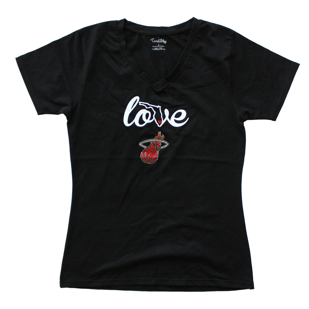 Bling it On Ladies Love V Neck - featured image