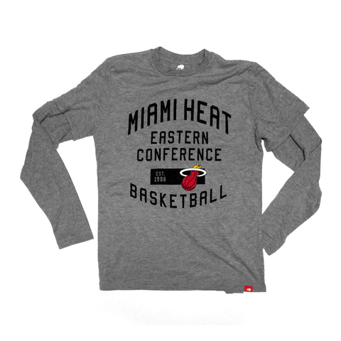 Sportiqe Miami HEAT Long Sleeve Jefferson Tee