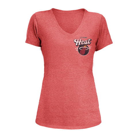 New ERA Miami HEAT Ladies Bubble V-Neck