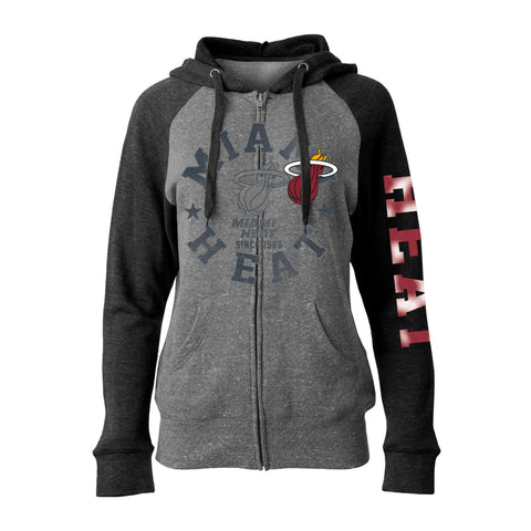 New ERA Miami HEAT Ladies Foil Zip Hoodie