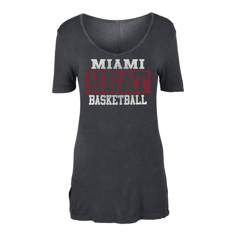 New ERA Miami HEAT Ladies Short Sleeve HEAT Basketball Tee