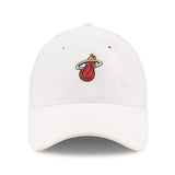 New ERA Miami HEAT White 2017 Draft Dad Adjustable Cap - 1