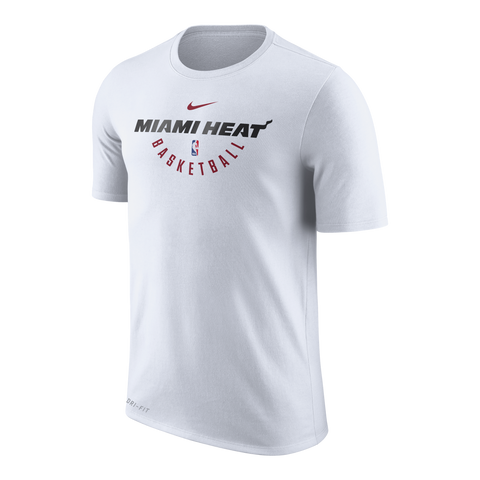 Nike Miami HEAT Youth Short Sleeve Practice Tee White