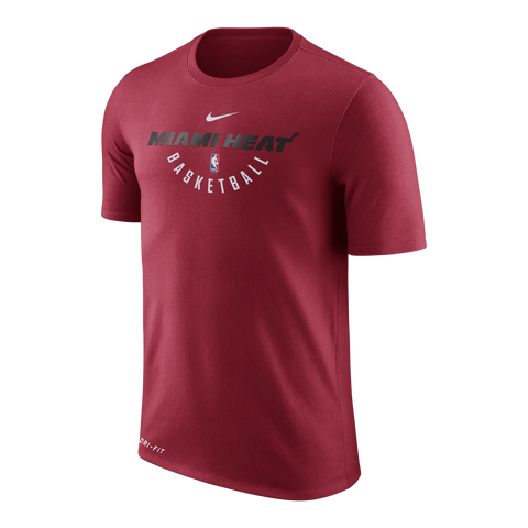 Nike Miami HEAT Youth Short Sleeve Practice Tee Red